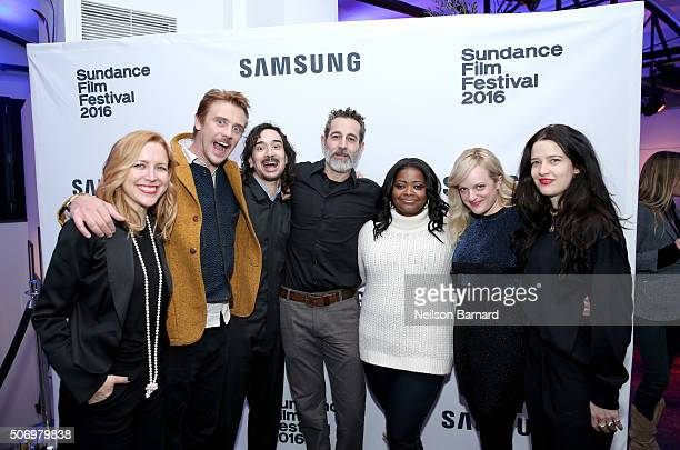 Producer Laura Rister actor Boyd Holbrook writer/director Jason Lew actors Waleed Zuaiter Octavia Spencer Elisabeth Moss and director of photography...