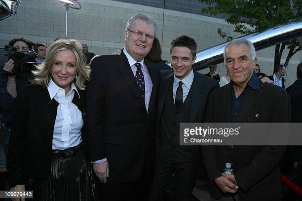 Producer Laura Ziskin Sony's Sir Howard Stringer Topher Grace and Screenwriter Alvin Sargent