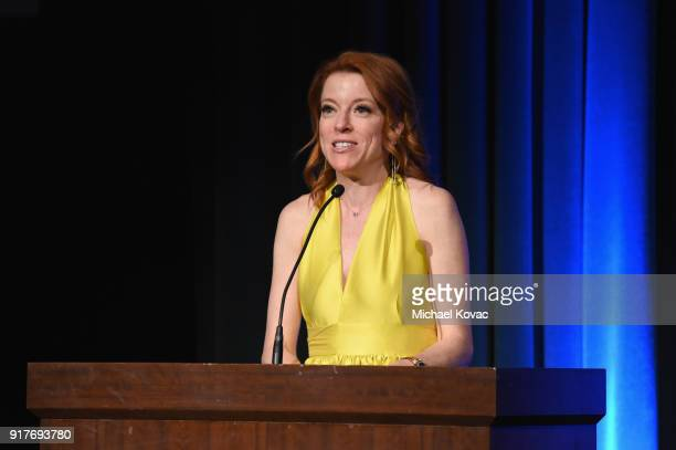 Producer Lauren Selig speaks onstage at the Advanced Imaging Society 2018 Lumiere Awards presented by Dell and Cisco at Steven J Ross Theatre on...