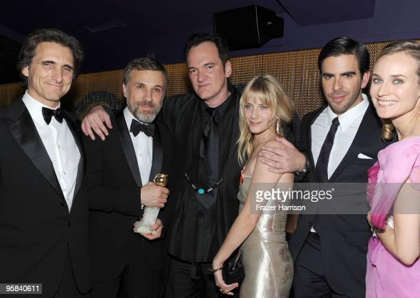 Producer Lawrence Bender actor Christoph Waltz director Quentin Tarantino actress Melanie Laurent actor Eli Roth and actress Diane Kruger attend The...