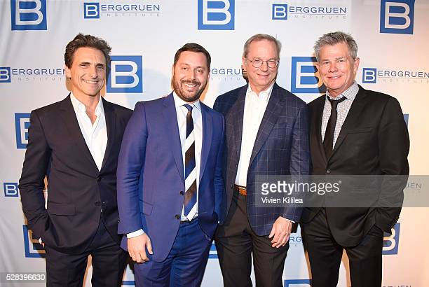 Producer Lawrence Bender agent Michael Kives Chief Executive Officer at Google Inc Eric E Schmidt and recording artist David Foster attend the...