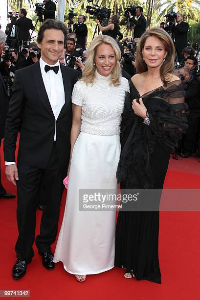 Producer Lawrence Bender Valerie Plame Wilson and Queen Noor of Jordan attend the premiere of Countdown To Zero held at the Palais des Festivals...