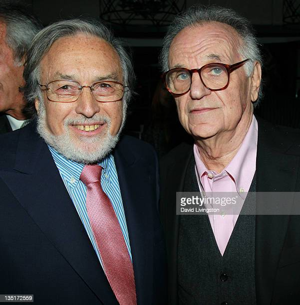 Producer Lawrence Schiller and photographer Bert Stern attend Taschen's 'Norman Mailer Bert Stern Marilyn Monroe' book launch at Hotel BelAir on...