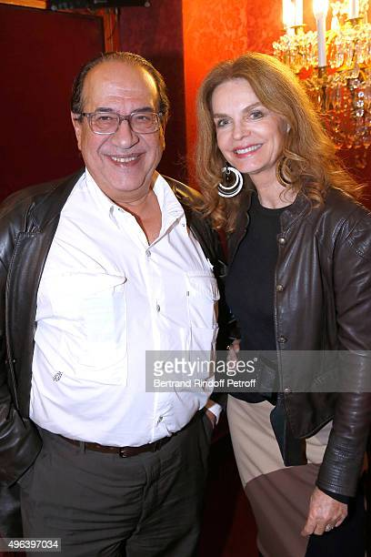 Producer LeanLuc Azoulay and Actress Cyrielle Clair attend the Theater Play 'Ne me regardez pas comme ca ' performed at 'Theatre Des Varietes' on...