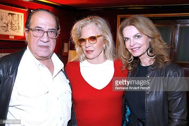 Producer LeanLuc Azoulay Sylvie Vartan and Actress Cyrielle Clair attend Sylvie Vartan triumphs in the Theater Play 'Ne me regardez pas comme ca '...