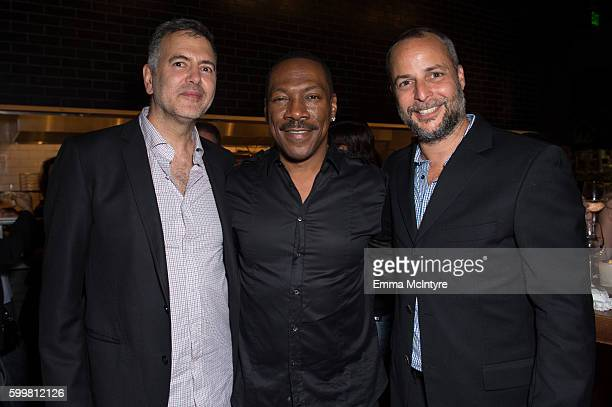 Producer Lee Nelson actor Eddie Murphy and producer Brad Kaplan attend the after party for the premiere of Cinelou Releasing's 'Mr Church' at...