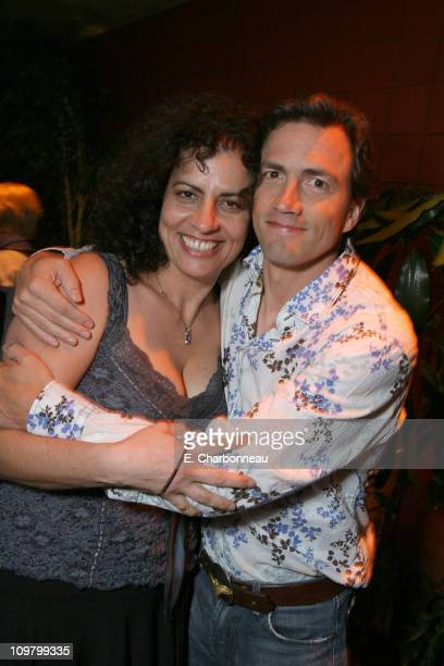 Producer Lemore Syvan and Andrew Shue during Picturehouse Gracie Los Angeles Premiere at Arclight Cinemas in Hollywood California United States