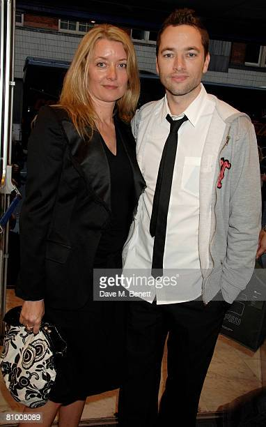 Producer Lene Bausager and director Sean Ellis arrive at the preview screening of Cashback at Odeon Covent Garden on May 6 2008 in London England