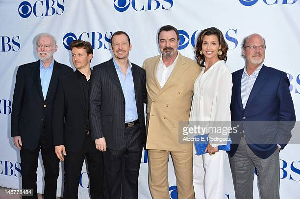 Producer Leonard Goldberg actors Donnie Wahlberg Tom Selleck Bridget Moynahan Will Estes and producer Kevin Wade arrive to a screening and panel...