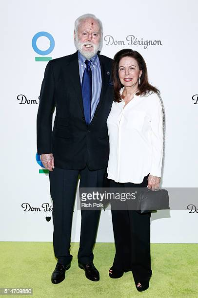 Producer Leonard Goldberg and Wendy Goldberg arrive at the 20th Annual Los Angeles Gala Dinner hosted by Conservation International on March 10 2016...
