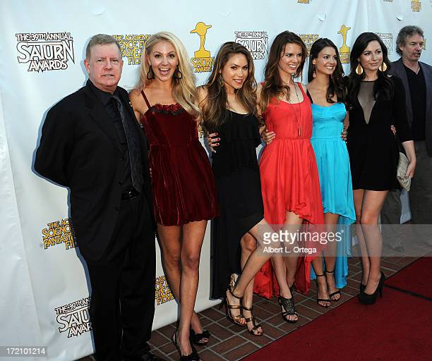 Producer Leonard McLeod actress Madison Dylan actress Jennifer Rose actress Catherine Annette actress Tiffany Brouwer and actress Chloe Zak attend...