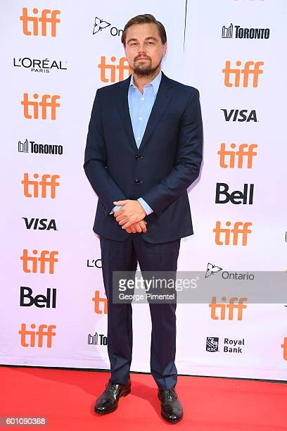 Producer Leonardo DiCaprio attends the Before the Flood premiere during the 2016 Toronto International Film Festival at Princess of Wales Theatre on...