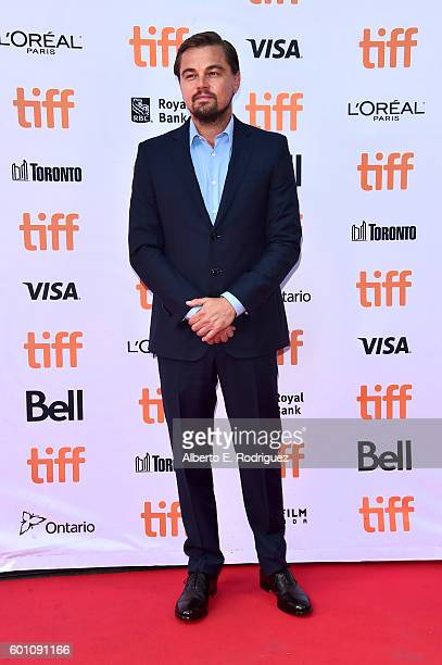 Producer Leonardo DiCaprio attends the 'Before the Flood' premiere during the 2016 Toronto International Film Festival at Princess of Wales Theatre...