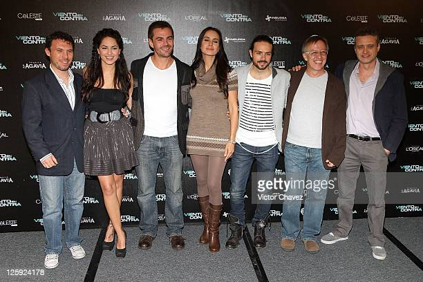 Producer Leonardo Zimbron actor Hector Arredondo actress Alejandra Barros producer Jose Maria Torre film director Walter Doehner and producer Walter...