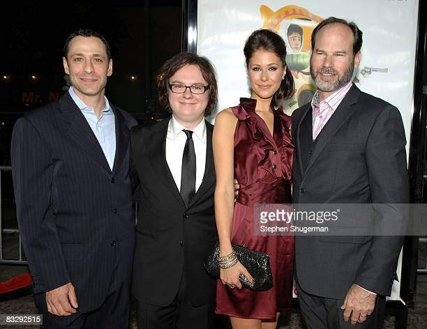Producer Leslie Morgenstein actor Clark Duke actor Amanda Crew and producer Bob Levy attend the premiere of Summit Entertainment's Sex Drive at the...