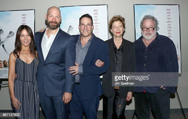 Producer Leslie Urdang actor Corey Stoll director Michael Mayer actress Annette Bening and producer Tom Hulce attend the New York screening of The...