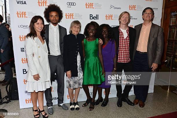 Producer Leslie Urdang actor Eka Darville producer Robin Scholes actress Healesville Joel actress Xzannjah Matsi director Andrew Adamson and producer...