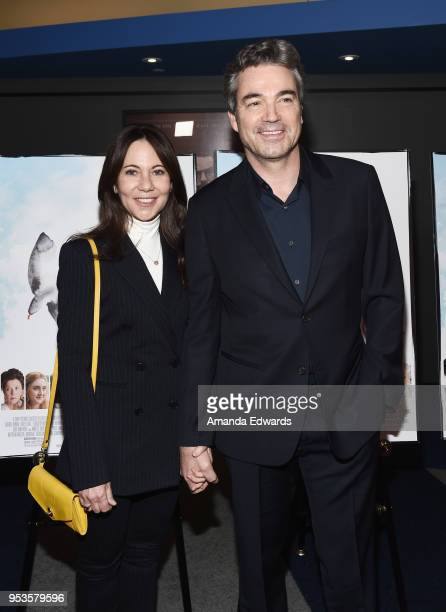 Producer Leslie Urdang and actor Jon Tenney arrive at the premiere of Sony Pictures Classics' The Seagull at the Writers Guild Theater on May 1 2018...