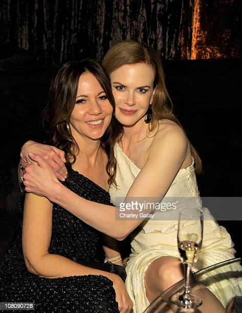 Producer Leslie Urdang and actress Nicole Kidman arrives at The Weinstein Company and Relativity Media's 2011 Golden Globe After Party presented by...