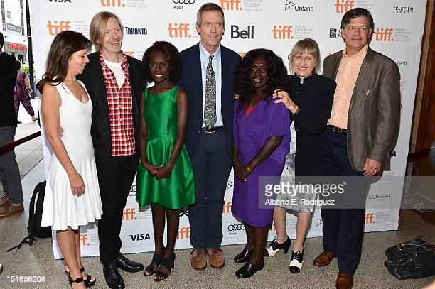 Producer Leslie Urdang director Andrew Adamson actress Healesville Joel actor Hugh Laurie actress Xzannjah Matsi and producers Robin Scholes and Dean...