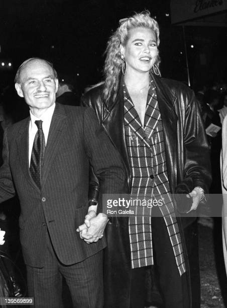 Producer Lester Persky and actress Margaux Hemingway attend 25th Anniversary Party for Elaine's Restaurant on April 25 1988 in New York City