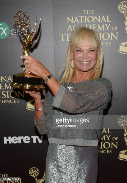 Producer Linda Bell Blue poses in the press room during The 41st Annual Daytime Emmy Awards at The Beverly Hilton Hotel on June 22 2014 in Beverly...