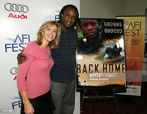 Producer Linda Vester and writer JB Rutagarama arrives at the World Premiere of Back Home during AFI FEST 2006 presented by Audi held at the LOFT at...