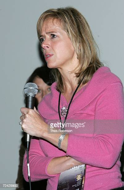 Producer Linda Vester speaks at the World Premiere of Back Home during AFI FEST 2006 presented by Audi held at the LOFT at Arclight Hollywood on...