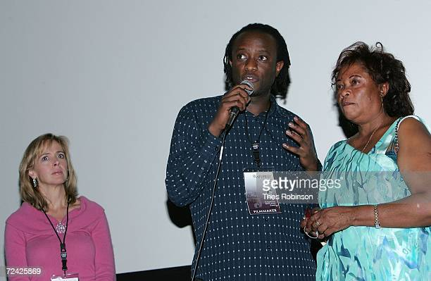 Producer Linda Vester writer JB Rutagarama and his mother Imaculee Mukanyonza speak at the World Premiere of Back Home during AFI FEST 2006 presented...