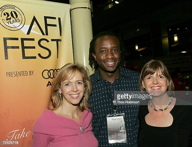 Producer Linda Vester writer JB Rutagarama and Truus Bos arrive at the World Premiere of Back Home during AFI FEST 2006 presented by Audi held at the...