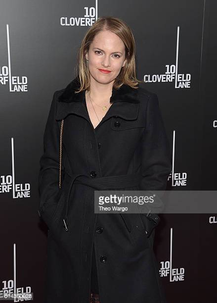 Producer Lindsey Weber attends the 10 Cloverfield Lane New York premiere at AMC Loews Lincoln Square 13 theater on March 8 2016 in New York City