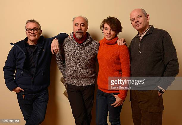 Producer Lionelle Cerri, director/writer Giorgio Diritti, actress Jasmine Trinca and producer Carlo Brancaleoni pose for a portrait during the 2013...