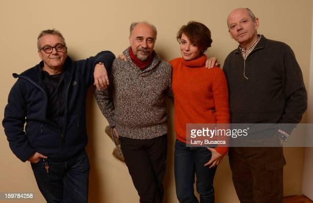 Producer Lionelle Cerri, director/writer Giorgio Diritti, actress Jasmine Trinca and producer Carlo Brancaleoni pose for a portrait during the 2013...