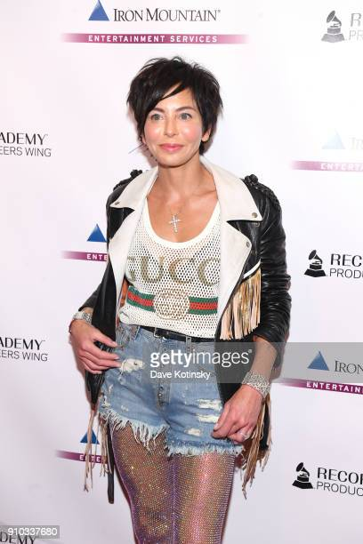 Producer Lisa Maria Falcone attends the Producers and Engineers Wing 11th Annual GRAMMY Week Event Honoring Swizz Beatz And Alicia Keys at The...