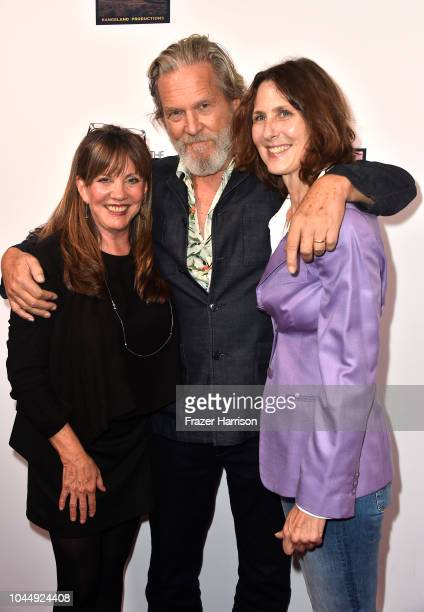 Producer Lise Romanoff Jeff Bridges director Susan Kucera attend the Premiere Of Vision Films' 'Living In The Future's Past' at Ahrya Fine Arts...