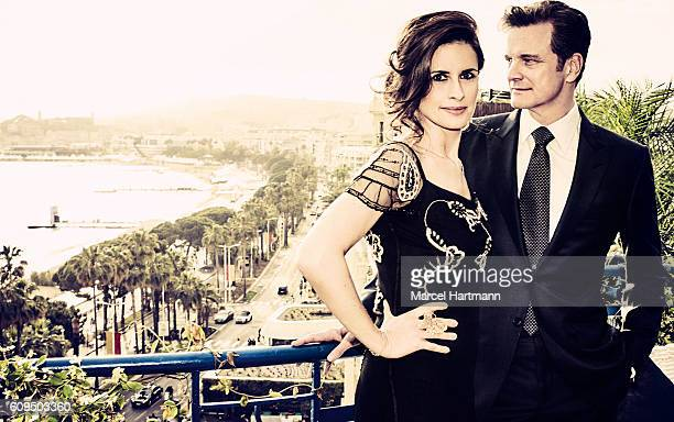 Producer Livia Giuggioli and actor Colin Firth are photographed for Vanity Fair Italy on May 12 2016 in Cannes France