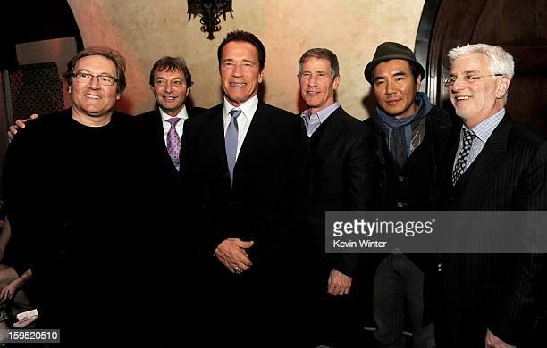 Producer Lorenzo di Bonaventura Patrick Wachsberger cochairman Lionsgate Motion Picture Group actor Arnold Schwarzenegger Jon Feltheimer CEO...