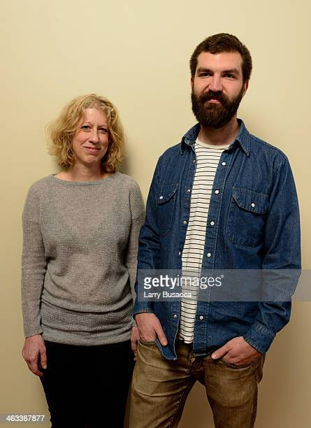Producer Lori Cheatle and Jeremiah Zagar pose for a portrait during the 2014 Sundance Film Festival at the WireImage Portrait Studio at the Village...