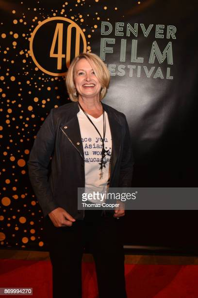 Producer Lori Kay Allred of the film The Outsider on the red carpet at the 40th annual Denver Film Festival on November 3 2017 in Denver Colorado