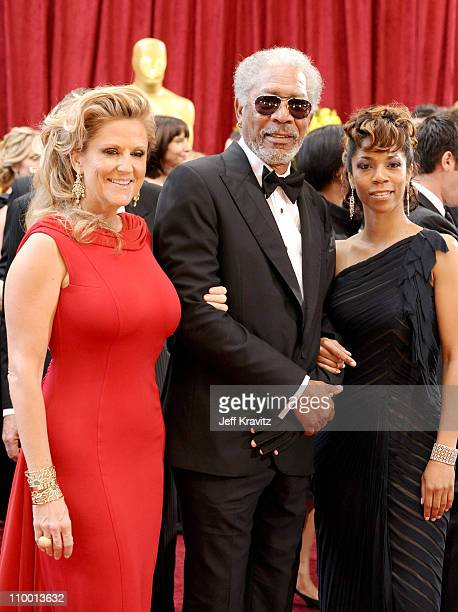 Producer Lori McCreary actor Morgan Freeman and daughter Morgana Freeman arrive at the 82nd Annual Academy Awards held at the Kodak Theatre on March...