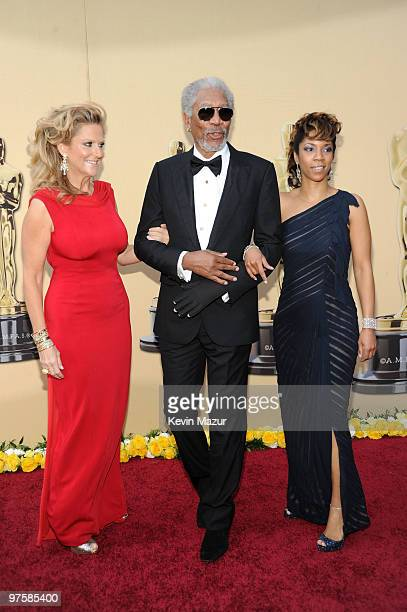 Producer Lori McCreary actor Morgan Freeman and daughter Morgana Freeman arrives at the 82nd Annual Academy Awards at the Kodak Theatre on March 7...