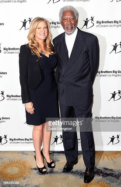 Producer Lori McCreary and actor Morgan Freeman attend the Big Brothers Big Sisters of Greater Los Angeles annual Accessories for Success spring...