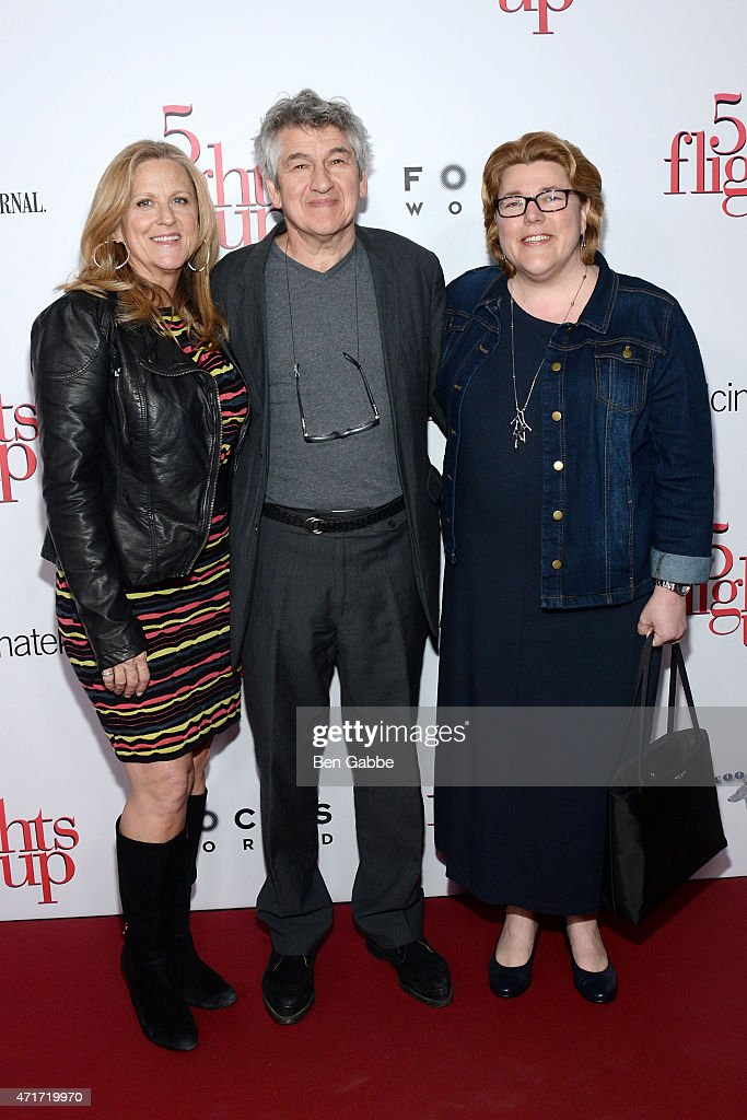 Producer Lori McCreary (L) and director Richard Loncraine with a guest attend the '5 Flights Up' New York premiere at BAM Rose Cinemas on April 30, 2015 in New York City.