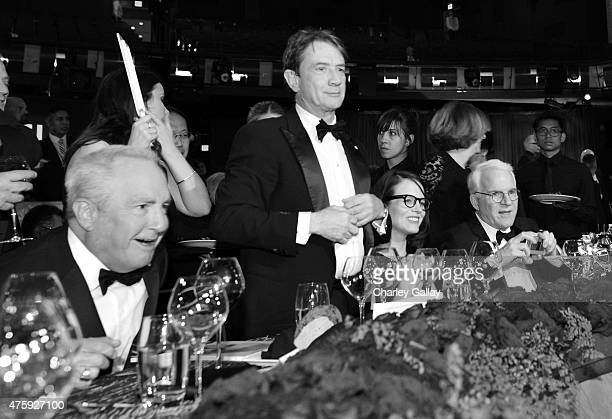Producer Lorne Michaels actor Martin Short writer Anne Stringfield and honoree Steve Martin attend the 2015 AFI Life Achievement Award Gala Tribute...