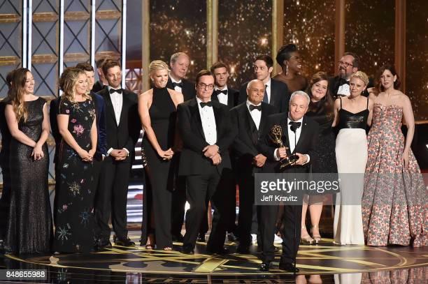 Producer Lorne Michaels and cast/crew accept Outstanding Variety Sketch Series for 'Saturday Night Live' onstage during the 69th Annual Primetime...