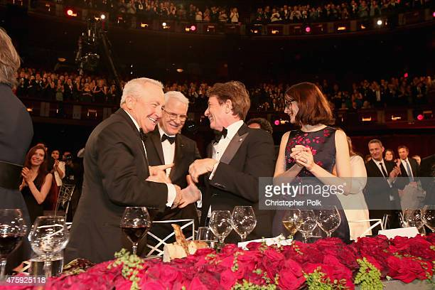 Producer Lorne Michaels honoree Steve Martin actor Martin Short and writer Anne Stringfield attend the 2015 AFI Life Achievement Award Gala Tribute...