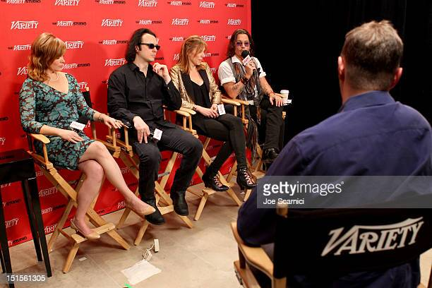 Producer Lorri Davis, Producer/Documentary subject Damien Echols, Director/Producer Amy Berg and Actor Johnny Depp at Variety Studio presented by...