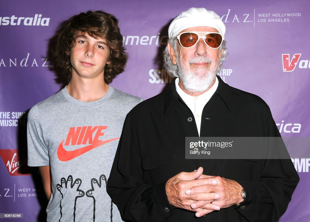 Producer Lou Adler (r) and his son Manny Adler attend the 2009 Sunset Strip Music Festival Virgin America After Party held at Andaz Hotel on September 11, 2009 in West Hollywood, California.
