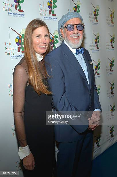 Producer Lou Adler and Page Hannah attend a celebration of Carole King and her music to benefit Paul Newman's The Painted Turtle Camp at the Dolby...