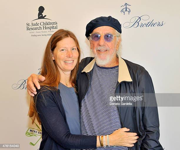 Producer Lou Adler and Page Hannah attend Brooks Brothers MINI CLASSIC Golf Tournament to benefit St Jude Children's Research Hospital at Brooks...